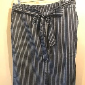 NWT blue striped casual day skirt